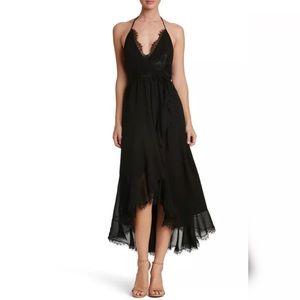 Dress the Population Gia Chiffon Wrap Maxi Dress